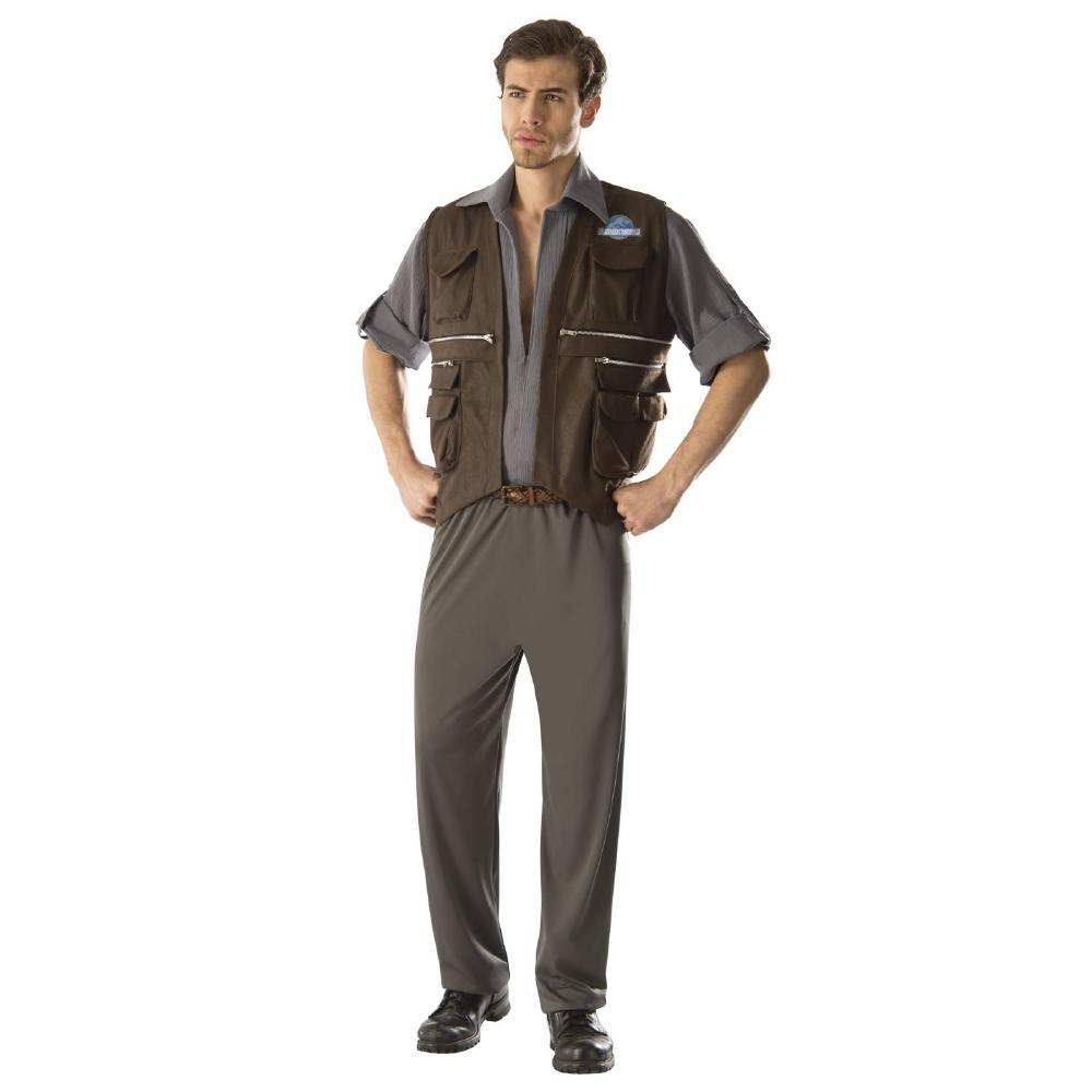 『ジュラシックワールド』オーウェンのコスチューム・デラックス大人用3点セット コスプレ衣装 (二次会、結婚式、仮装、パーティー、宴会、ハロウィン)大人男性用