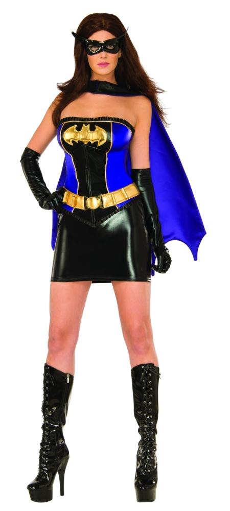 スーパーヒーロー・バットガールのコスチューム6点セット大人用 コスチューム コスプレ衣装 (二次会、結婚式、仮装、パーティー、宴会、舞台、演劇、ハロウィン)大人用 女性