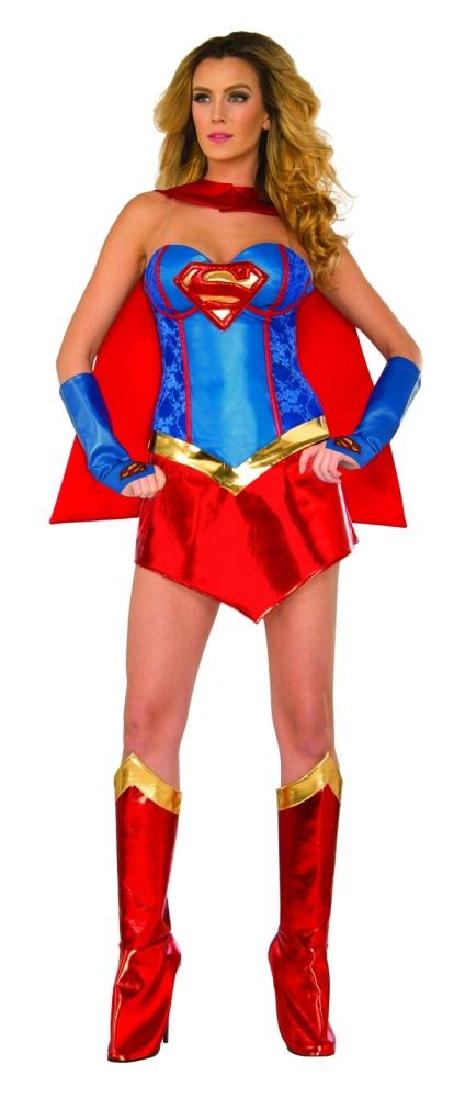 スーパーヒーロースタイル・スーパーガールの合皮コルセットコスチューム5点セット女性用 コスチューム コスプレ衣装 (二次会、結婚式、仮装、パーティー、宴会、舞台、演劇、ハロウィン)大人用 女性, 秦野市:875f8571 --- officewill.xsrv.jp