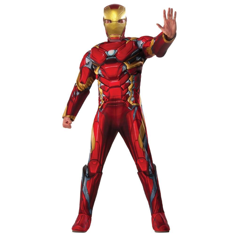 『キャプテン・アメリカ/シビル・ウォー』アイアンマンのコスチューム・デラックス男性用3点セット コスプレ衣装 (二次会、結婚式、仮装、パーティー、宴会、ハロウィン)大人男性用