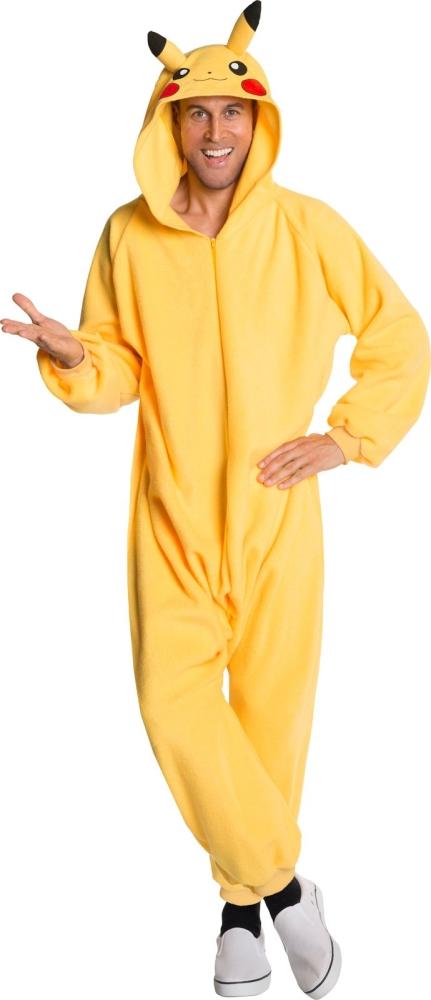 Pokemonポケモン ピカチュー ジャンプスーツ コスチューム コスプレ衣装 (二次会、結婚式、仮装、パーティー、宴会、ハロウィン) 男性女性 大人用