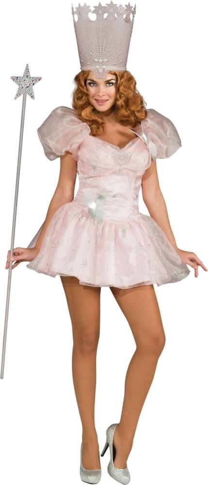 グリンダ・グッドウィッチのコスチューム2点セット大人用 コスチューム コスプレ衣装 (二次会、結婚式、仮装、パーティー、宴会、舞台、演劇、ハロウィン)大人用 女性