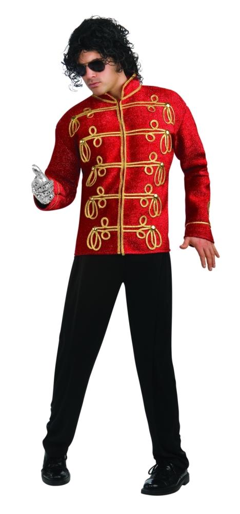 マイケルジャクソンのコスチューム赤のミリタリージャケット・デラックス子大人用 コスチューム コスプレ衣装 (二次会、結婚式、仮装、パーティー、宴会、舞台、演劇、ハロウィン、大きいサイズ)大人用 男性