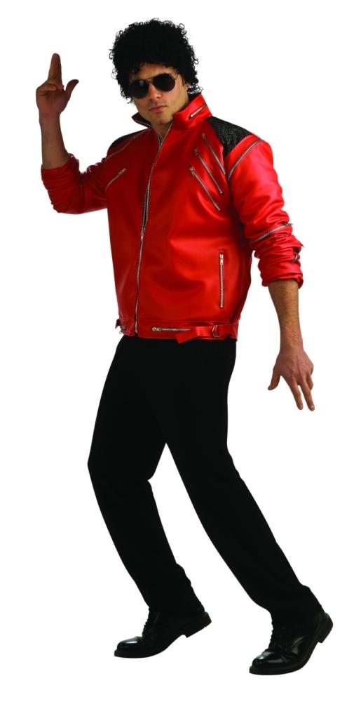 マイケルジャクソン『ビート・イット』の赤ジャケットコスチューム・デラックス大人用 コスチューム コスプレ衣装 (二次会、結婚式、仮装、パーティー、宴会、舞台、演劇、ハロウィン、大きいサイズ)大人用 男性