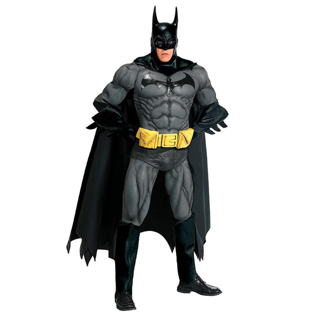 バットマンのコレクターズエディションコスチューム大人用9点セット コスプレ衣装 (二次会、結婚式、仮装、パーティー、宴会、ハロウィン)大人男性用