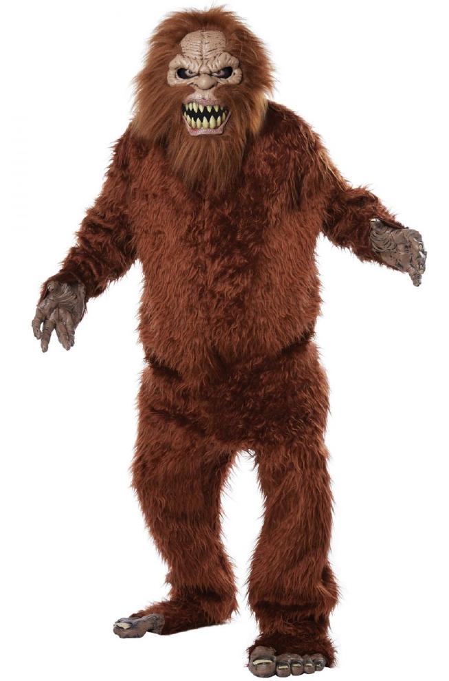 サスクワッチ 大人用コスチューム 4点セットコスプレ衣装  (二次会、結婚式、仮装、パーティー、宴会、ハロウィン) 男性