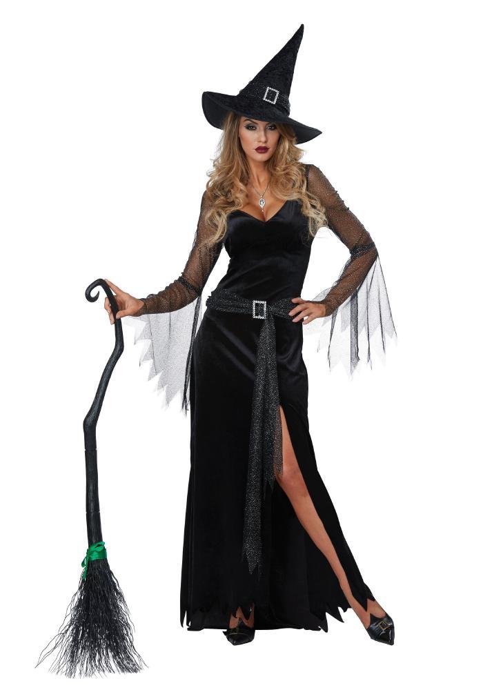 リッチ・ウィッチ アダルト用 3点セット  女性用 コスプレ衣装 (二次会、仮装、パーティー、ハロウィン)大人女性用