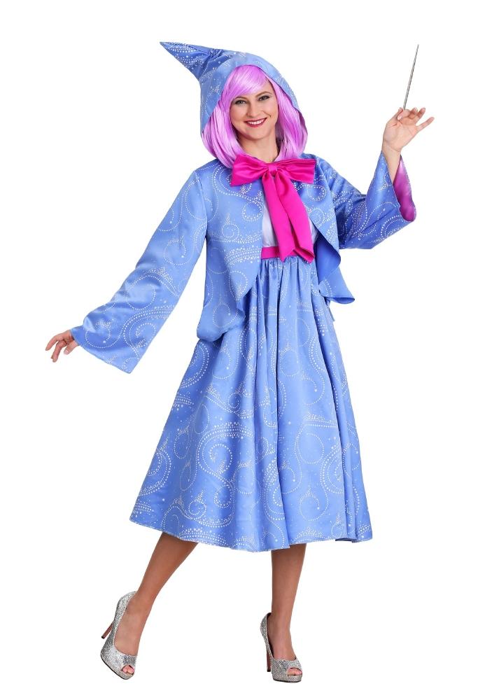 ディズニー シンデレラ フェアリーゴッドマザー レディース用コスチューム 2点セットコスプレ衣装  (二次会、結婚式、仮装、パーティー、宴会、ハロウィン) 女性