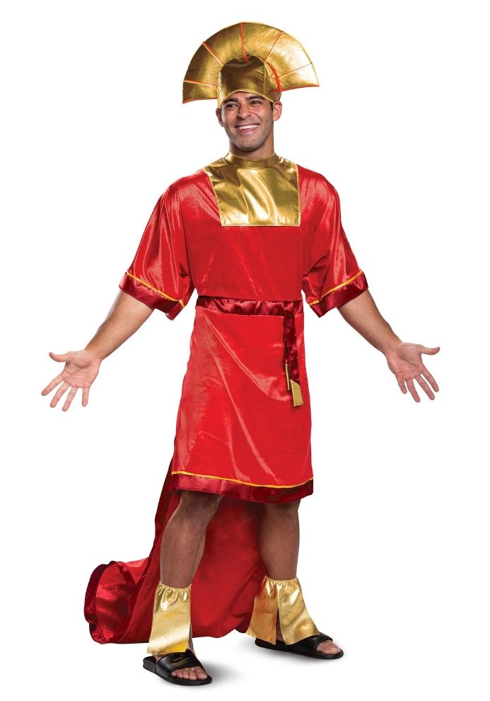 ディズニー エンペラー ニューグルーヴ クスコ メンズ用コスチューム 3点セットコスプレ衣装  (二次会、結婚式、仮装、パーティー、宴会、ハロウィン) 男性