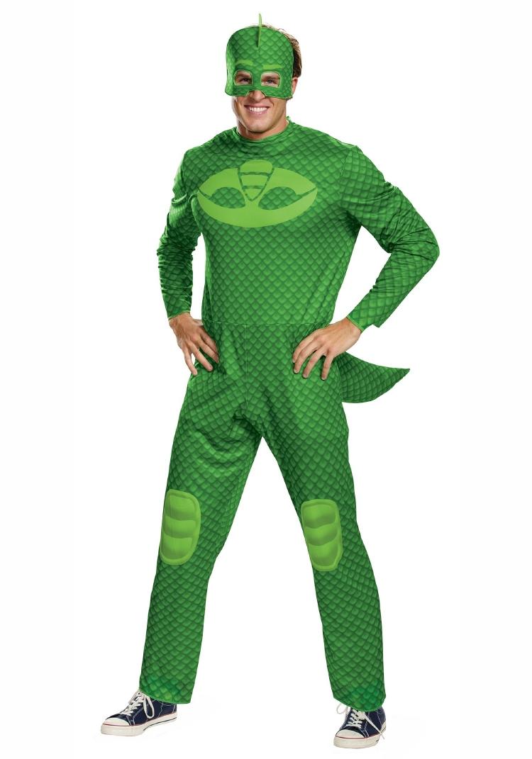ディズニー しゅつどう!パジャマスク PJ マスク ゲッコー クラシック コスチューム 3点セット 大人用 コスチューム ハロウィン 仮装
