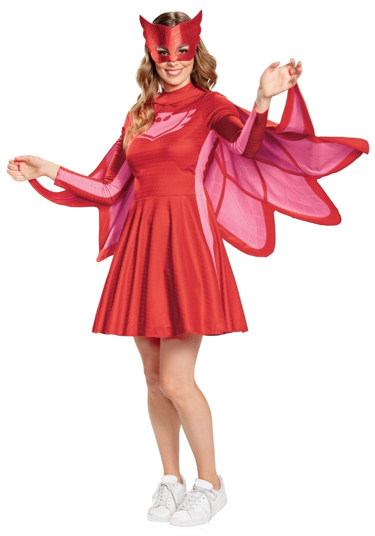 ディズニー しゅつどう!パジャマスク PJ マスク ウーマン アウレット クラシック コスチューム 3点セット 大人用 レディースコスチューム ハロウィン 仮装