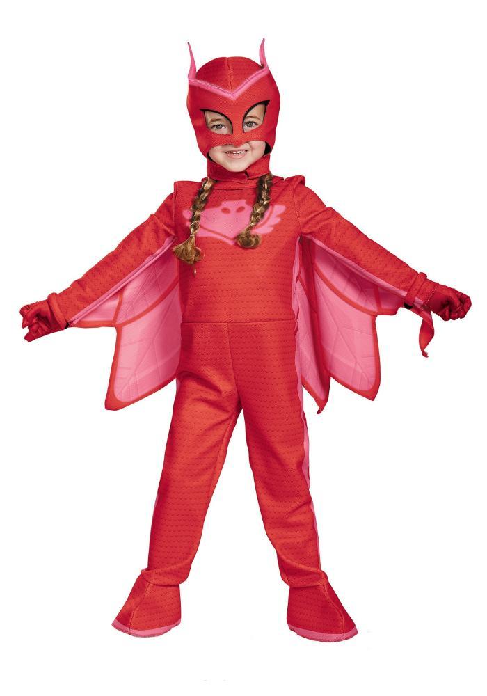 しゅつどう!パジャマスク デラックスPJ マスク オウレット コスチューム ガールズ用 4点セット 幼児 子供用 コスプレ衣装 (仮装、ハロウィン)