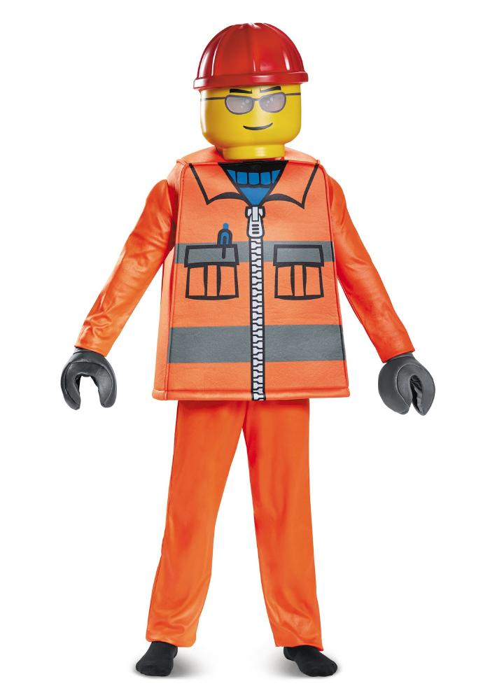 レゴ デラックス コンストラクションワーカー ボーイズコスチューム 4点セット 子供用 コスプレ衣装 (仮装、ハロウィン)