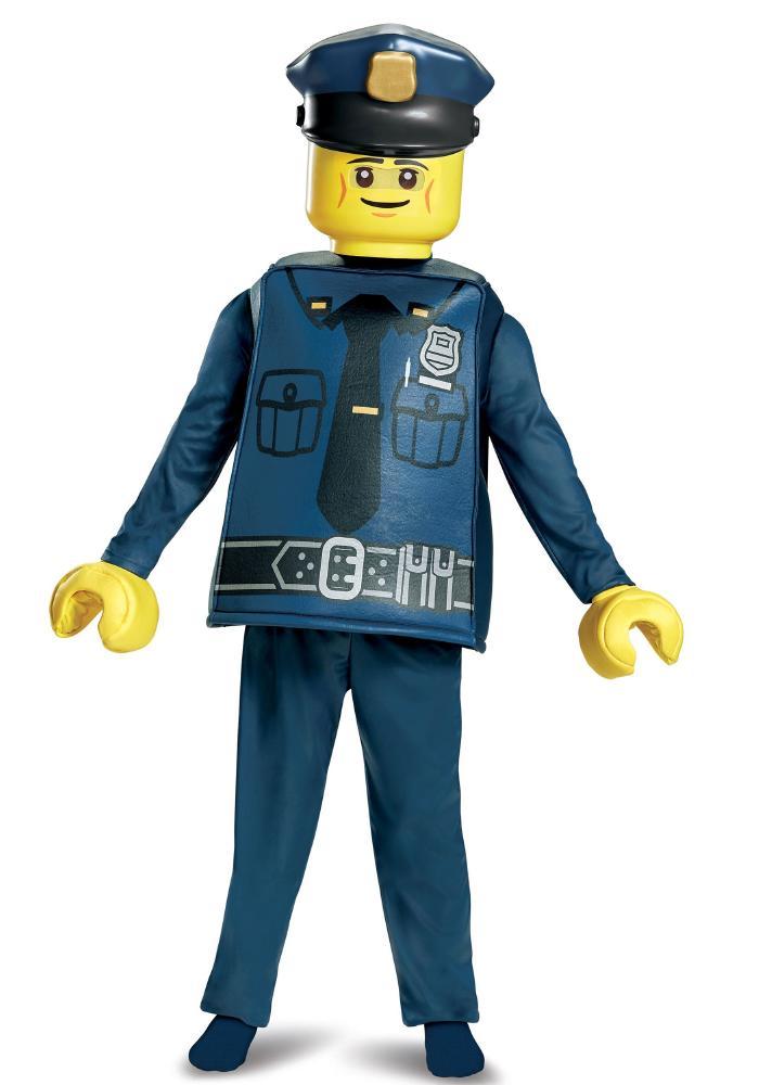 レゴ デラックス ポリスオフィサー ボーイズコスチューム 4点セット 子供用 コスプレ衣装 (仮装、ハロウィン)