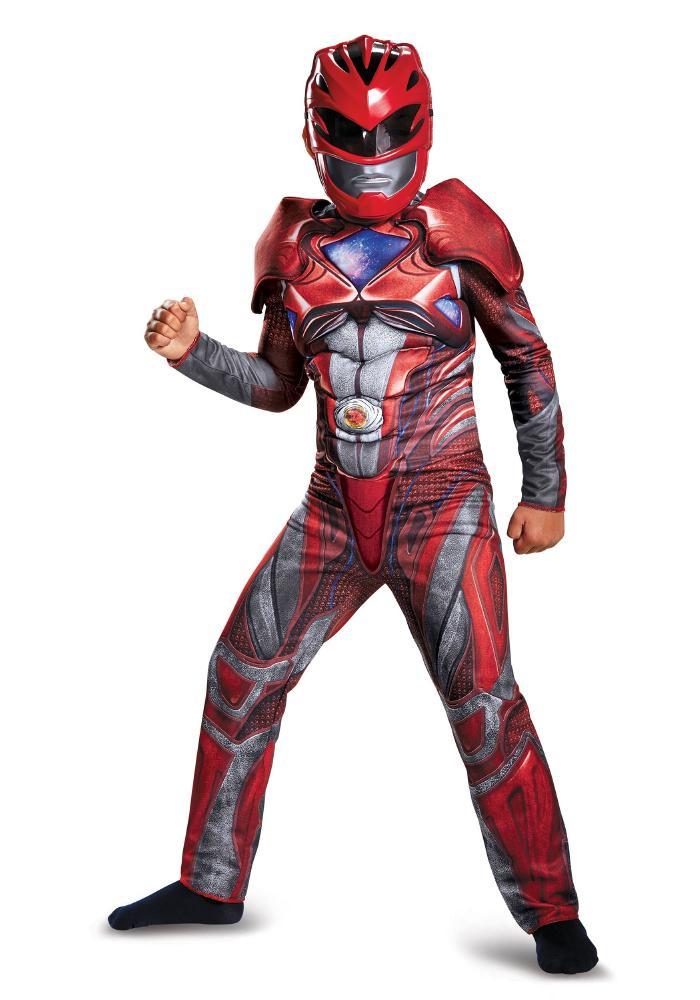 レッドレンジャー ムービー チャイルド クラシックマッスルコスチューム ボーイズ用 2点セット 子供用 コスプレ衣装 (仮装、ハロウィン)
