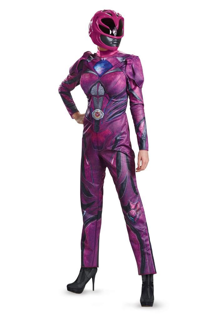 パワーレンジャー ムービー ピンクレンジャー デラックス レディースコスチューム 2点セット 女性用 コスプレ衣装 (二次会、仮装、パーティー、ハロウィン)大人女性用