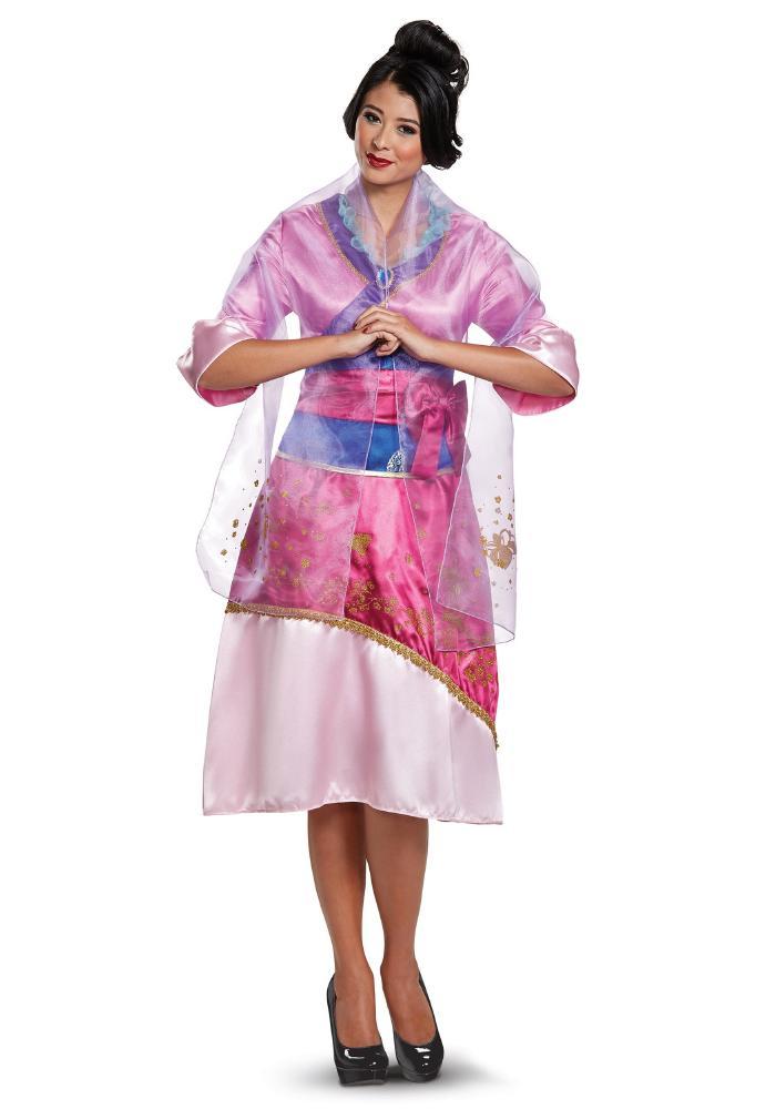 ディズニー ムーラン デラックス レディースコスチューム 3点セット 女性用 コスプレ衣装 (二次会、仮装、パーティー、ハロウィン)大人女性用
