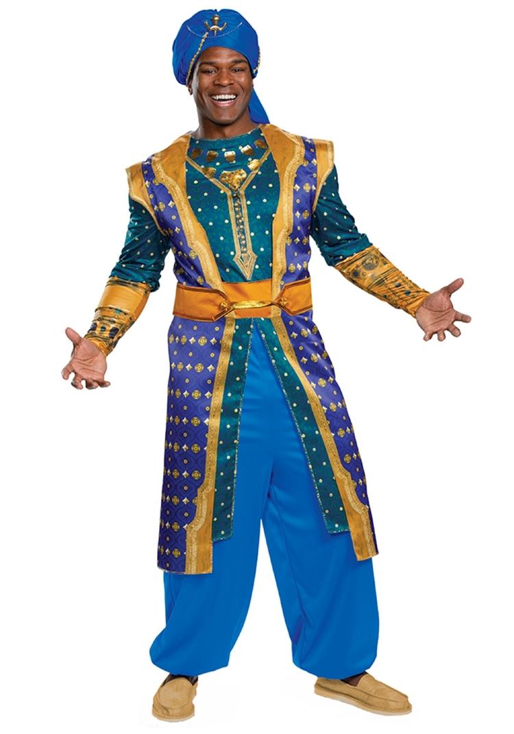 ディズニー アラジン 実写版 ジーニー デラックス コスチューム 3点セット 大人用 メンズ ハロウィン 仮装