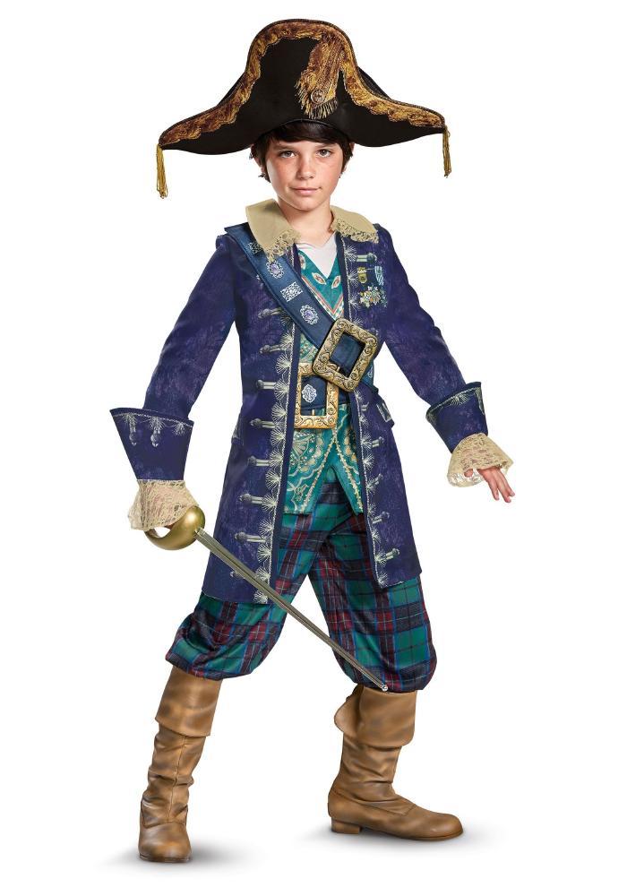 デラックス キャプテン バルボッサ ボーイズコスチューム 4点セット 子供用 コスプレ衣装 (仮装、ハロウィン)