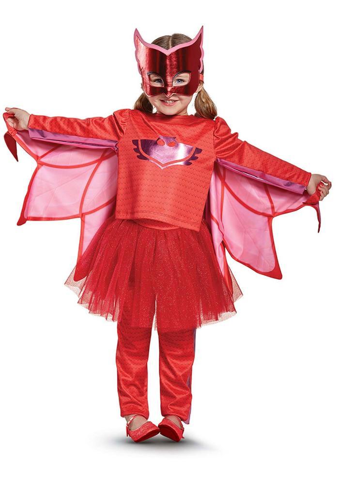 しゅつどう!パジャマスク デラックスPJ マスク オウレット プレステージ 幼稚園 幼児 チュチュコスチューム 4点セット 子供用 コスプレ衣装 (仮装、ハロウィン)