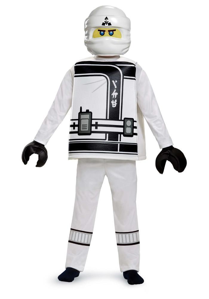 レゴLEGOニンジャゴー ゼン ボーイズデラックスコスチューム 4点セット 子供用 コスプレ衣装 (仮装、ハロウィン)