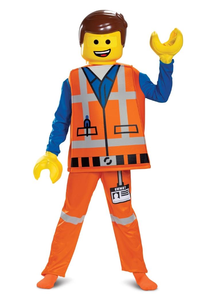 『レゴ(R) ムービー 2 』 エメット デラックス コスチューム 4点セット キッズ用 ボーイズ ハロウィン 仮装