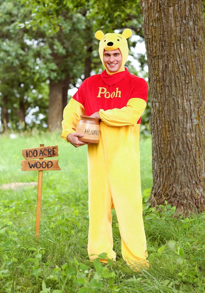 ウィニー・ザ・プー デラックス アダルトコスチューム 2点セット 男性用 コスプレ衣装 (二次会、仮装、パーティー、ハロウィン)大人男性用