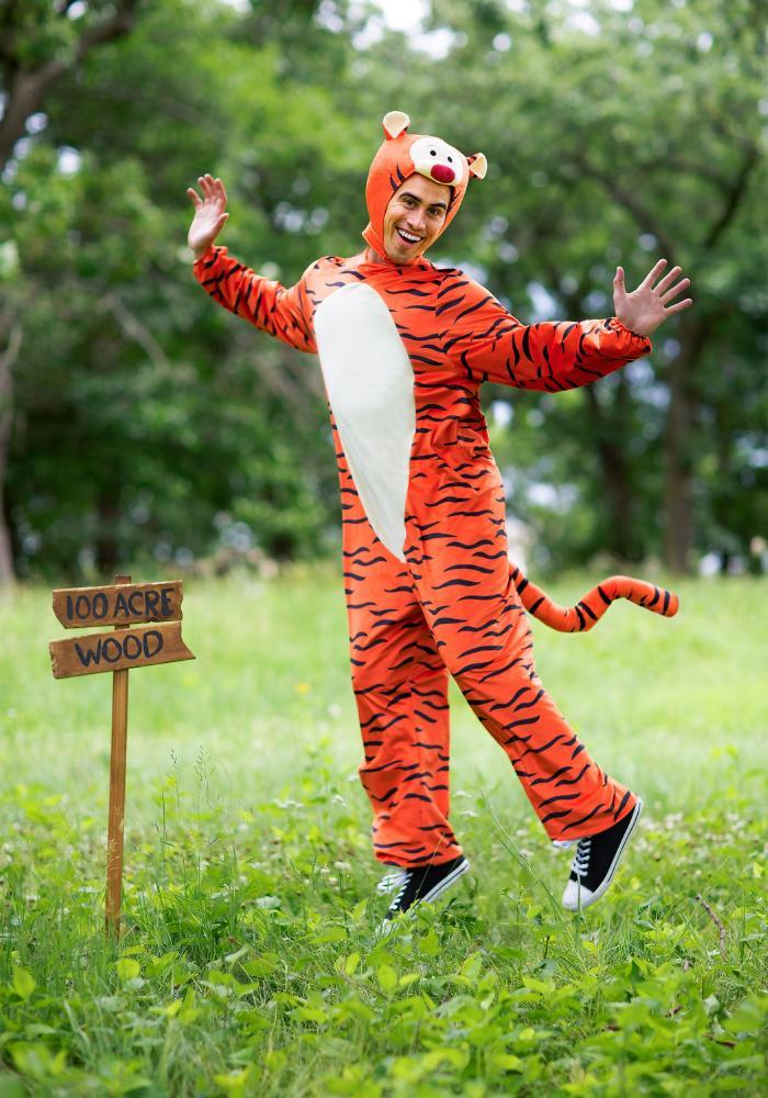 ウィニー・ザ・プー ティガー デラックス アダルトコスチューム 2点セット 男性用 コスプレ衣装 (二次会、仮装、パーティー、ハロウィン)大人男性用