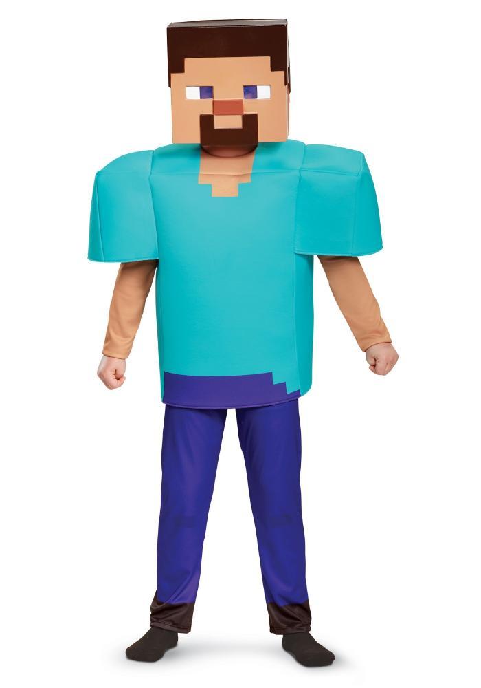 マインクラフト スティーブ デラックスコスチューム ボーイズ用 3点セット 子供用 コスプレ衣装 (仮装、ハロウィン)