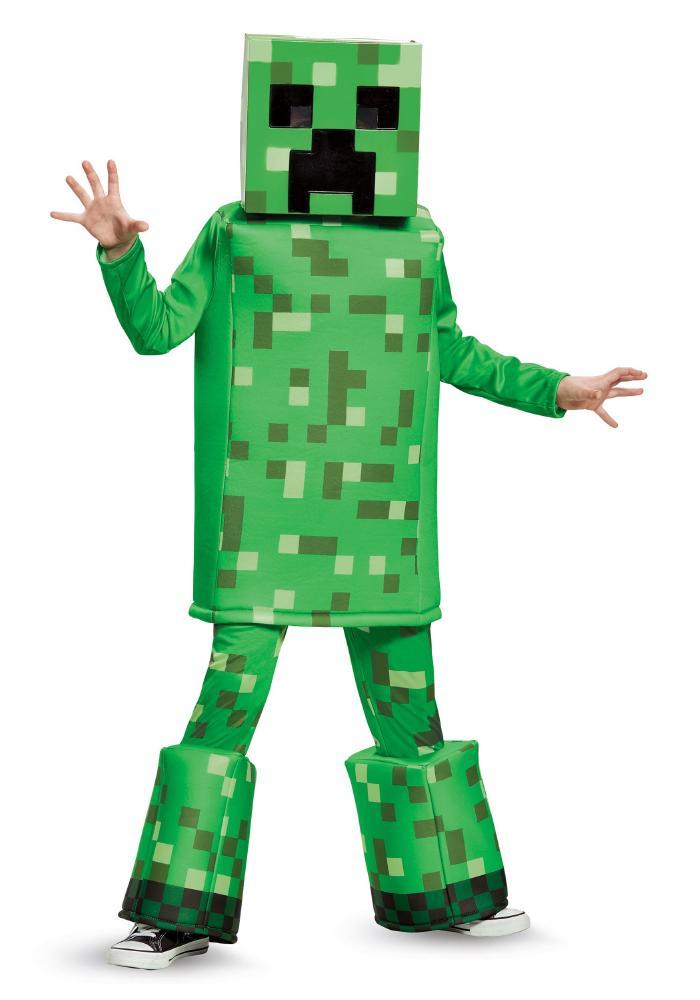 マインクラフト クリーパー プレステージコスチューム ボーイズ用 3点セット 子供用 コスプレ衣装 (仮装、ハロウィン)