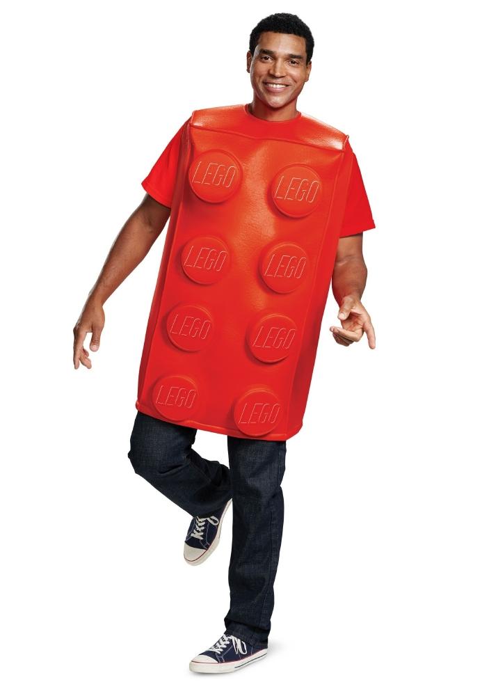 レゴ 大人 ブリック(レッド)メンズコスチュームコスプレ衣装 かわいい (二次会、結婚式、仮装、パーティー、宴会、ハロウィン) 大人男性女性