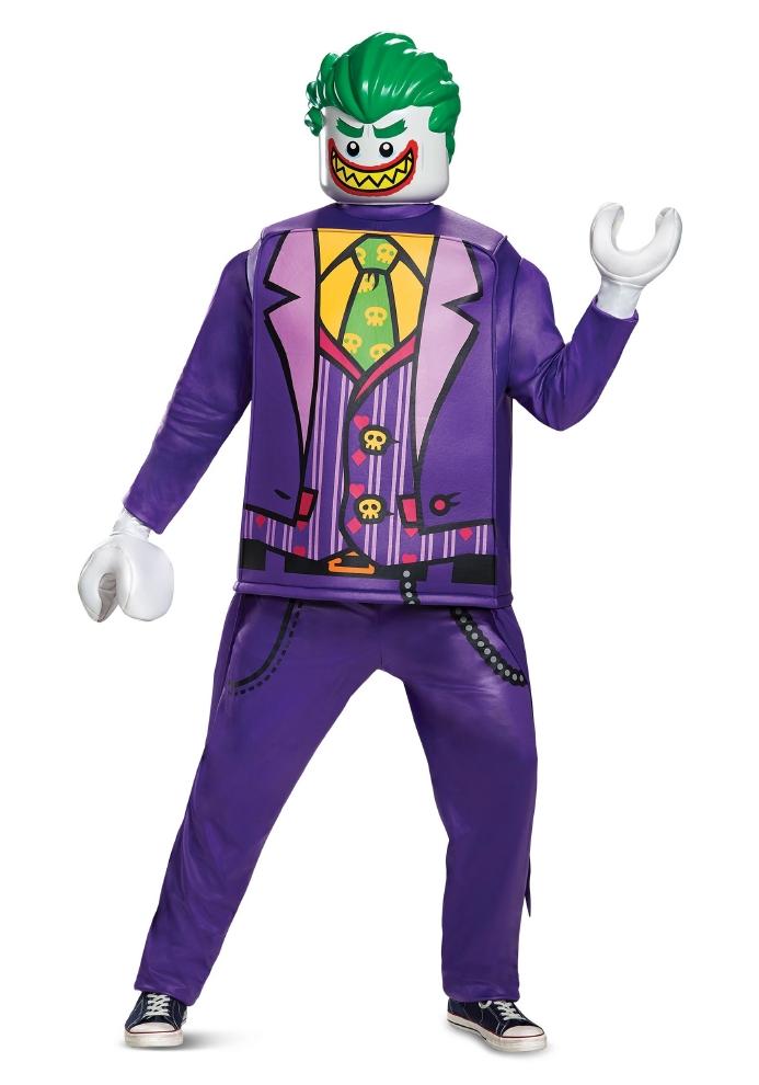 レゴ バットマン デラックス ジョーカー メンズコスチュームコスプレ衣装 (二次会、結婚式、仮装、パーティー、宴会、ハロウィン) 大人男性
