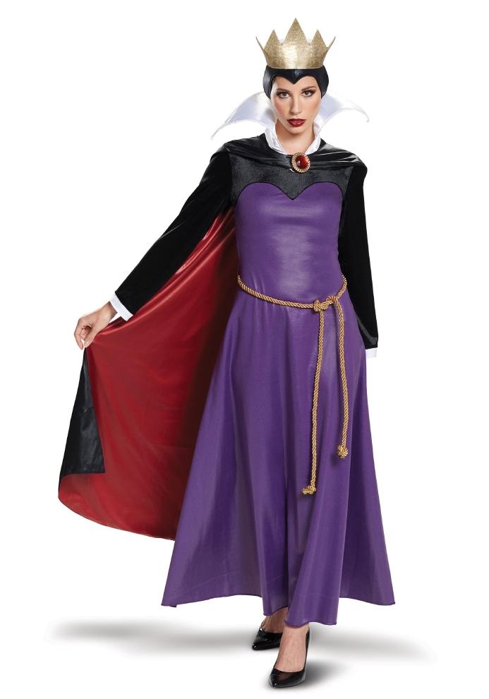 白雪姫 悪のクィーン デラックス レディース コスチューム 大人用 4点セットディズニー コスプレ衣装 かわいい (二次会、結婚式、仮装、パーティー、宴会、ハロウィン) 大人女性