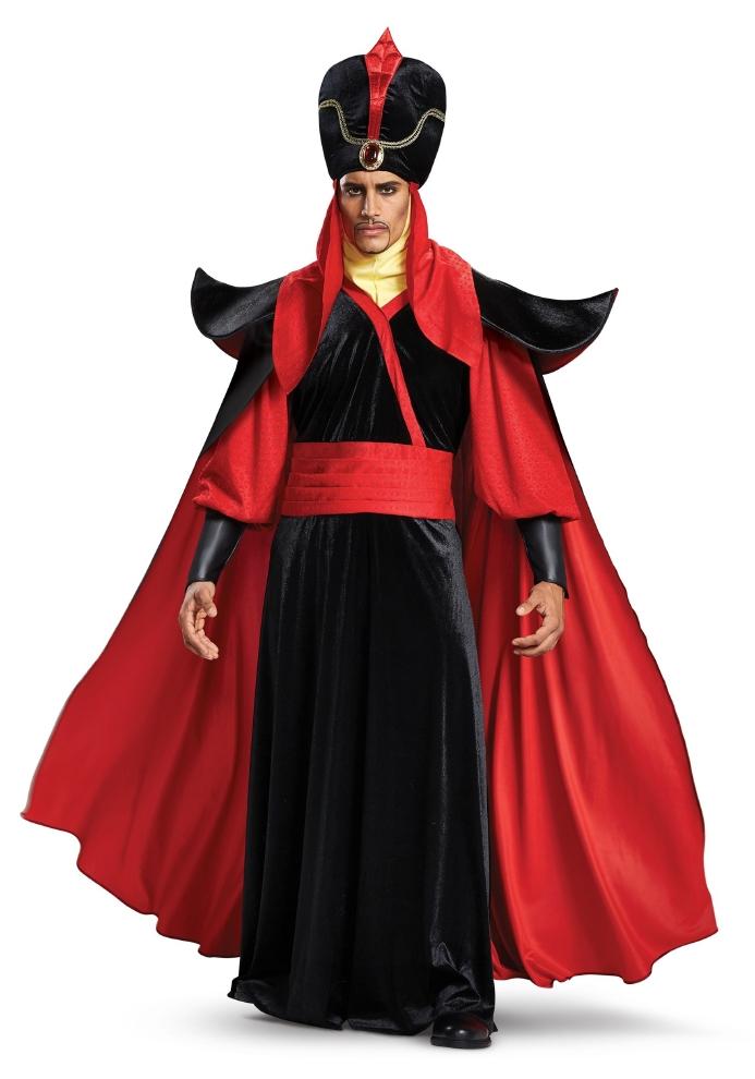 ディズニー アラジン ジャファー メンズ用コスチューム 4点セットコスプレ衣装  (二次会、結婚式、仮装、パーティー、宴会、ハロウィン) 男性