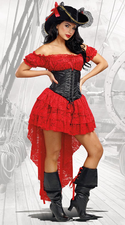 パイレーツ ウェンチコスチューム 女性用 コスプレ衣装 (二次会、仮装、パーティー、ハロウィン)大人女性用
