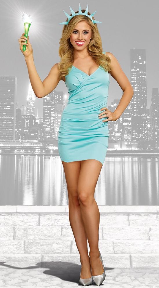 ミス・リバティ レディース用コスチューム 3点セット コスプレ衣装  セクシー(二次会、結婚式、仮装、パーティー、宴会、ハロウィン)大人 女性