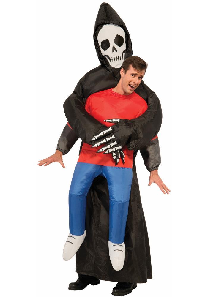 おもしろ仮装 インフレータブル リーパー アダルトコスチューム お笑い 3点セット 男性用 コスプレ衣装 (二次会、仮装、パーティー、ハロウィン)大人男性用