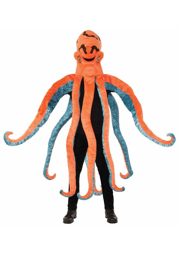 おもしろ仮装 オクトパス マスコット アダルトコスチューム お笑い 3点セット 男性用 コスプレ衣装 (二次会、仮装、パーティー、ハロウィン)大人男性用