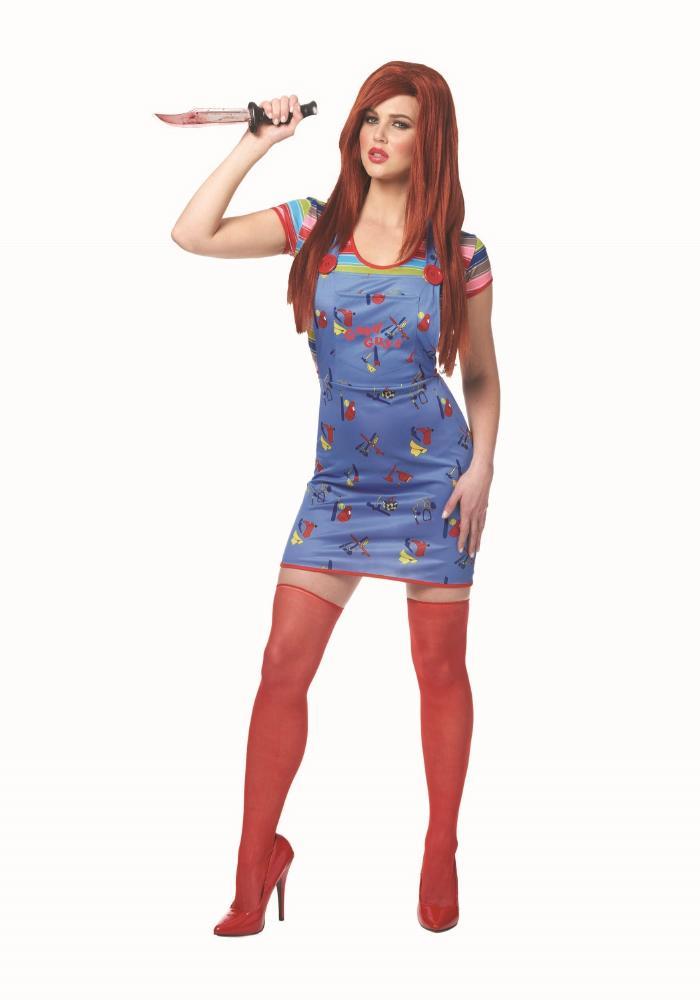 セクシーチャッキー チャイルドプレイコスチューム 2点セット ハロウィンコスチューム  女性用 コスプレ衣装 (二次会、仮装、パーティー、ハロウィン)大人女性用
