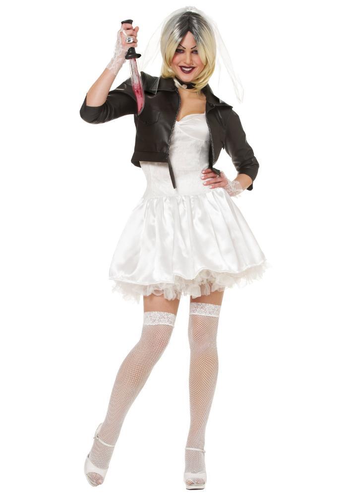 ブライド オブ チャッキー レディースコスチューム 5点セット ハロウィンコスチューム  女性用 コスプレ衣装 (二次会、仮装、パーティー、ハロウィン)大人女性用