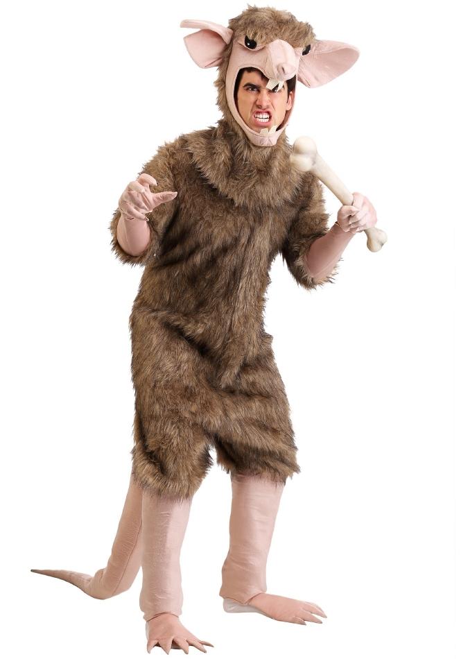 下水道ラット ハロウィン メンズ用 コスチューム 仮装 2点セット 大人男性