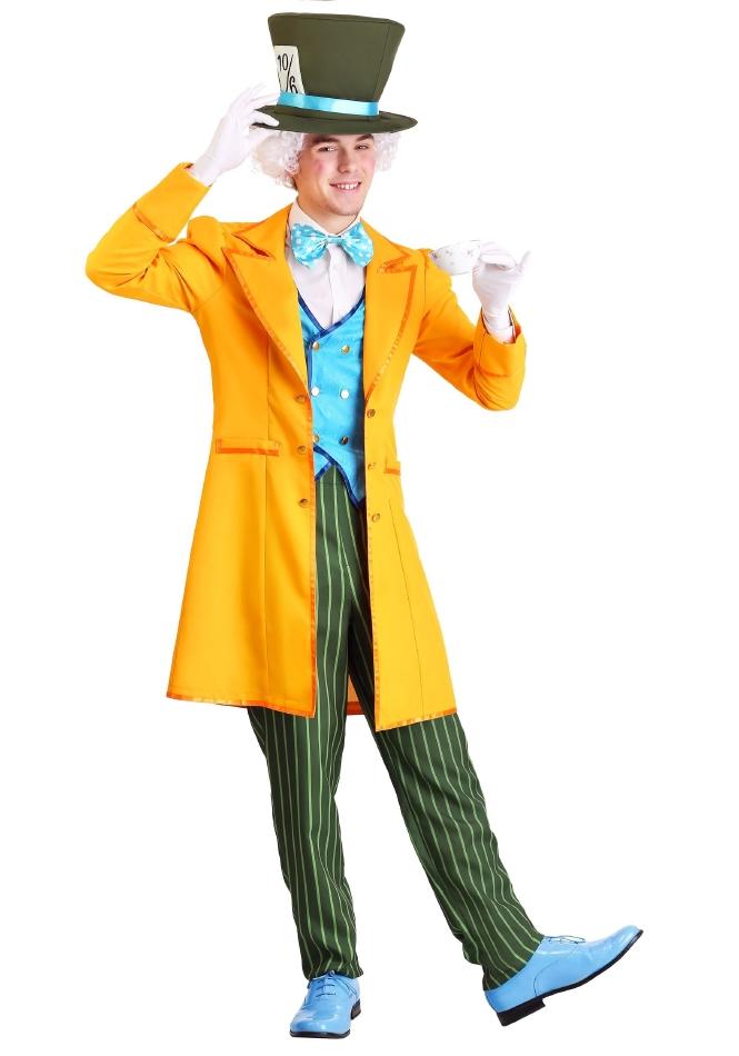 クラシック マッドハッター ハロウィン メンズ用 コスチューム 仮装 4点セット 大人男性