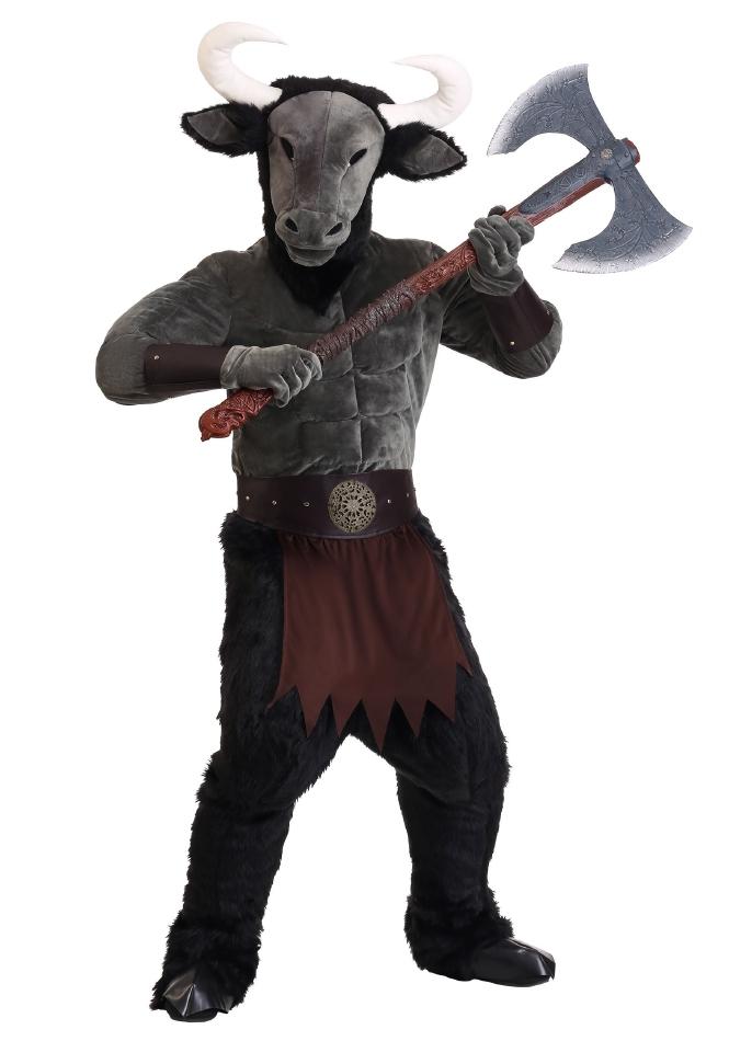 メノシング ミノタウロス 恐ろしい怪物ミノタウロス ハロウィン 大人用 コスチューム 仮装 5点セット 男性