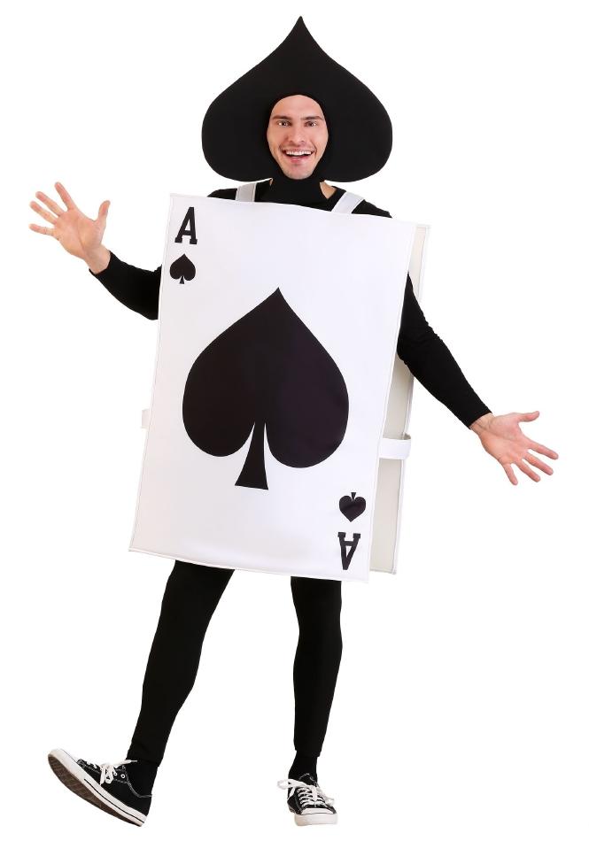 黒 スペードのエース A トランプ ハロウィン 大人用 コスチューム 仮装 2点セット 男性