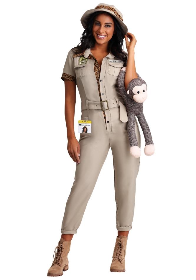 ズーキーパー 動物園の飼育員 ハロウィン レディース用 コスチューム 仮装 3点セット 大人女性