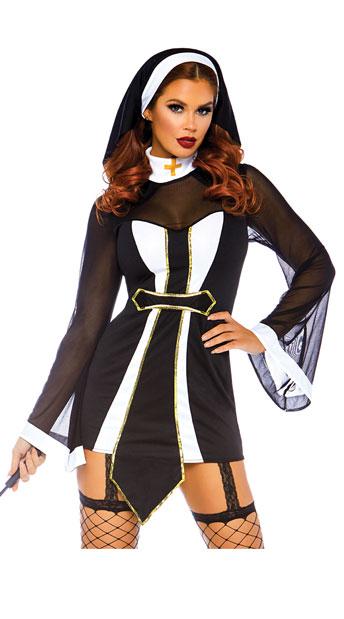 ツィステッドシスター レディースコスチューム 2点セット LEG AVENUEレッグアベニューコスプレ衣装 かわいい (二次会、結婚式、仮装、パーティー、宴会、ハロウィン) 大人女性