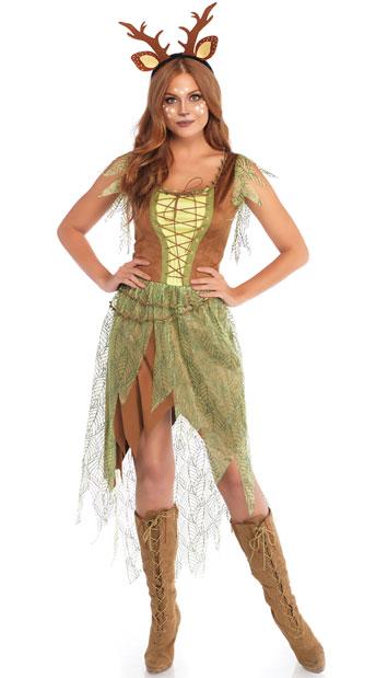 ウッドランド フォーン 子鹿 レディースコスチューム 2点セット LEG AVENUEレッグアベニューコスプレ衣装 かわいい (二次会、結婚式、仮装、パーティー、宴会、ハロウィン) 大人女性