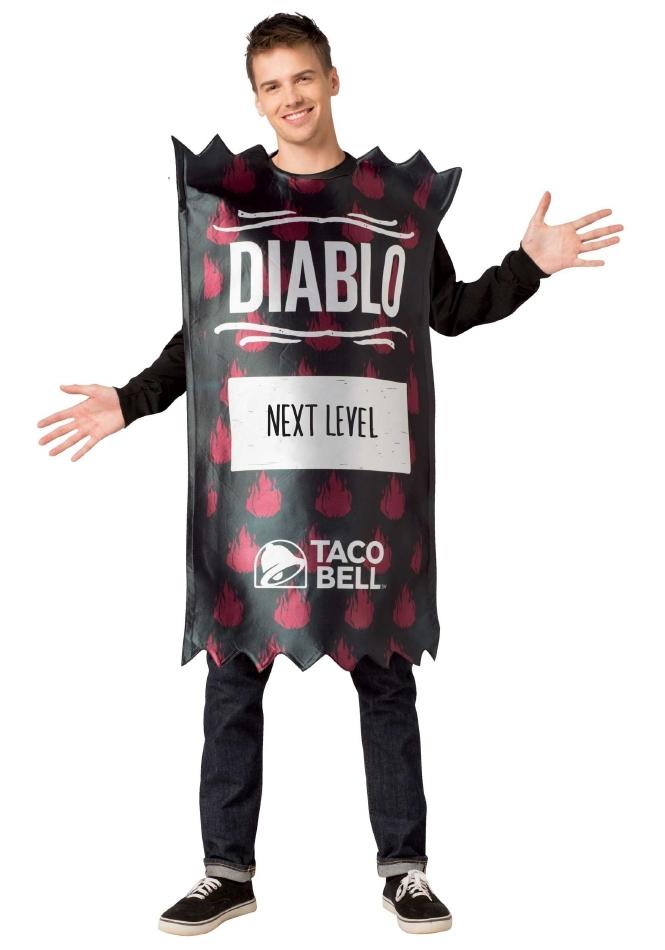 タコベル TACO BELL ディアブロソースパック 大人用 ハロウィン コスチューム チュニック 大人男性