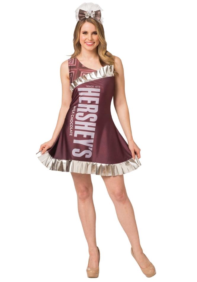 ハーシーズ キャンディバー HERSHEY'S レディース用 ハロウィン コスチューム ドレス 2点セット 大人女性