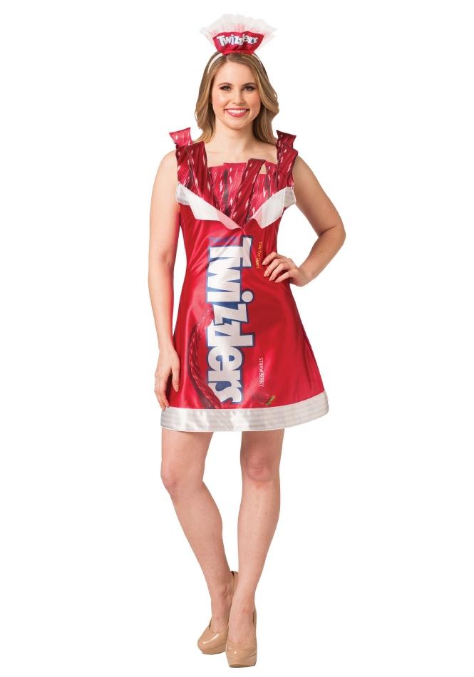 トゥイズラー Twizzlers レディース用 ハロウィン コスチューム ドレス 2点セット 大人女性